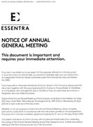 Notice of AGM screenshot